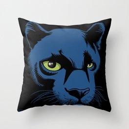 Black Panther Head Throw Pillow