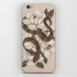 Snake and Magnolias iPhone Skin