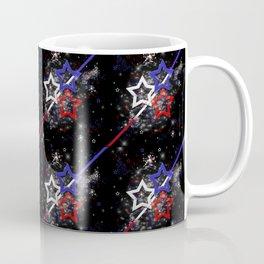 Stars and Stripes Pattern Coffee Mug