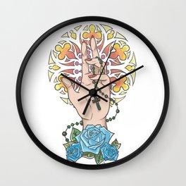 The Secret of Saint Esmeralda Wall Clock