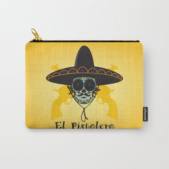 El Pistolero.Mexican sugar skull Carry-All Pouch