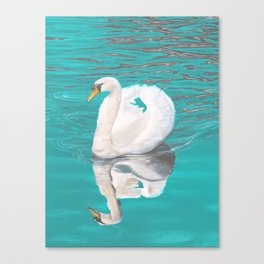 Gliding Swan Canvas Print