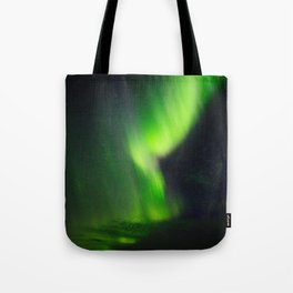 Icelandic northern lights Tote Bag