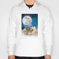 sandman Hoodies featuring Good Night Moon by Diogo Verissimo