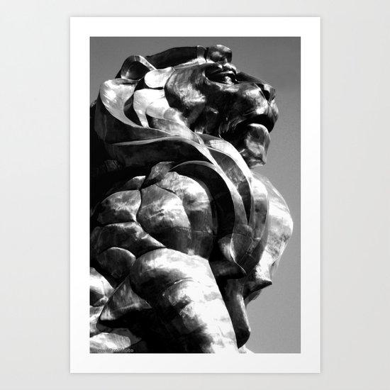 A King's Profile Art Print