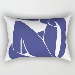 Matisse Cut Out Figure #2 Deep Blue Rectangular Pillow