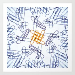 Kaleidoscope -Paper Clips Art Print