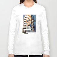 american Long Sleeve T-shirts featuring The North American Woman by Matthew Billington