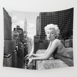 """Marilyn - """"Things Have Changed B&W"""" Wall Tapestry"""