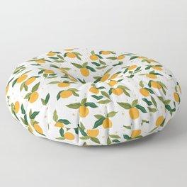 Gouache Oranges Floor Pillow