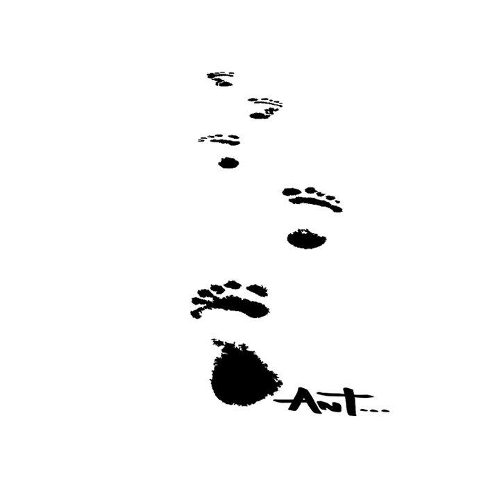 footprints foot prints Comforters