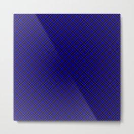 Scottish Fabric High res Blue Metal Print