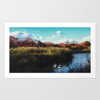 postcard Art Prints featuring POSTCARD  by DOMINICK DEMONTE
