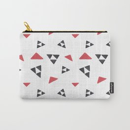 Hand painted watercolor black red geometrical triangles Carry-All Pouch