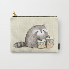 Raccoon on Bongos Carry-All Pouch