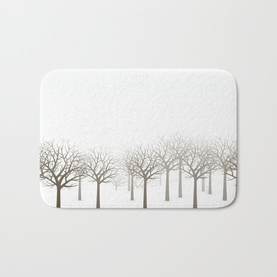 Winter Forest by Friztin Bath Mat