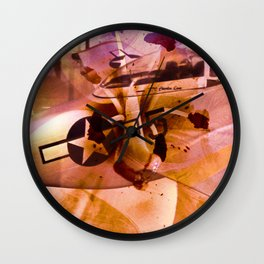 """Red Tales: Flower's For The Unsung Hero's"" Wall Clock"