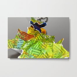 Collage Man Metal Print