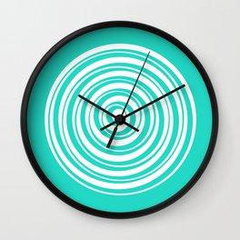 Teal Circles Wall Clock