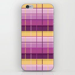 Seamless Colorful Abstract Modern Line Plaid Pattern iPhone Skin