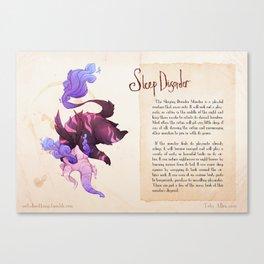 Real Monsters- Sleep Disorder Canvas Print