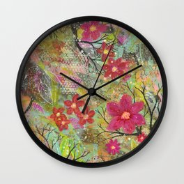 Spring Bursting Wall Clock