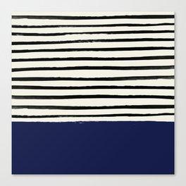 Navy x Stripes Canvas Print