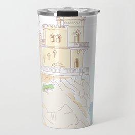 Old medieval castle. Wall art. Travel Mug