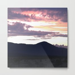 Sunset in the High Foothills Metal Print