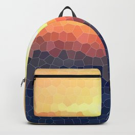 Stained-glass Effect Sunset Backpack