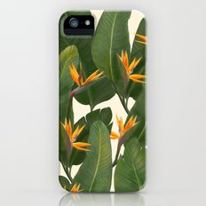 tropical floral iPhone (5, 5s) Slim Case