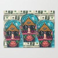 illuminati Canvas Prints featuring IllUmiNaTi by CREATOROFARTS