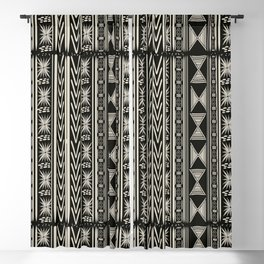 Boho Mud cloth (Black and White) Blackout Curtain