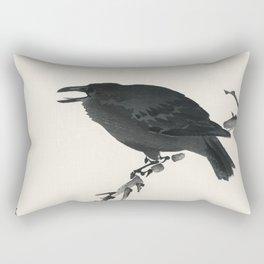 Songbird and Lotus (1900 - 1936) by Ohara Koson (1877-1945) Rectangular Pillow