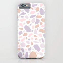 Modern Terrazzo - 1 Pink Tan Violet iPhone Case