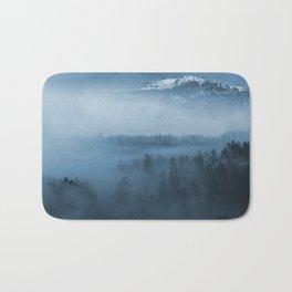Mountains and fog. Bath Mat