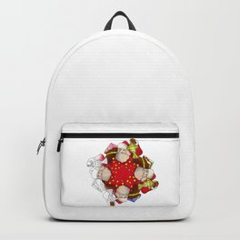 Santa Claus Mandala Backpack