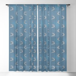 Mosasaurus Sheer Curtain