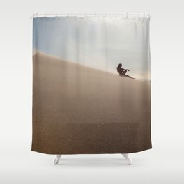 Sunset at Eureka Sand Dunes Shower Curtain