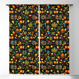 Party Like It's Mardi Gras! (Pattern & Graphic) Blackout Curtain