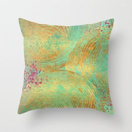 Jungle Theorem Abstract II Throw Pillow