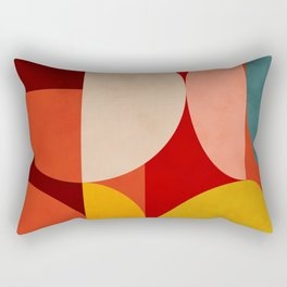 shapes of red mid century art Rectangular Pillow