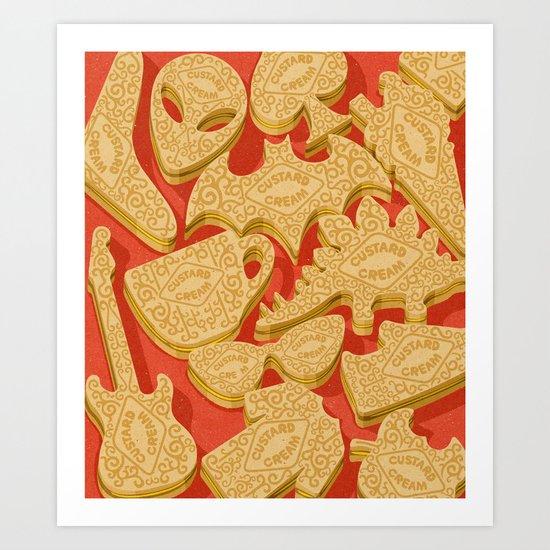custard creams Art Print