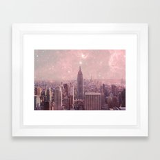 Stardust Covering New York Framed Art Print
