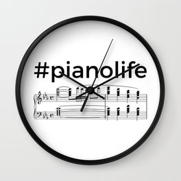 #pianolife Wall Clock