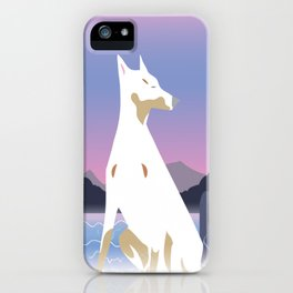 Spirit dog and Waterfall iPhone Case