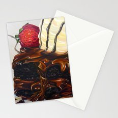 hot fudge brownie Stationery Cards
