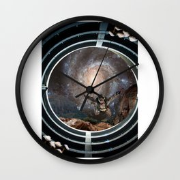 Trip to Space Wall Clock