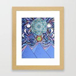 Sacred Egyptian Moon Phase Mandala Framed Art Print