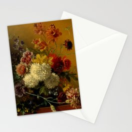 "George Jacobus Johannes van Os ""Still Life with Flowers"" Stationery Cards"